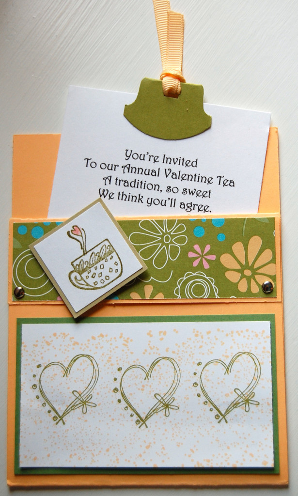 Cute Valentine Tea Party Invitation