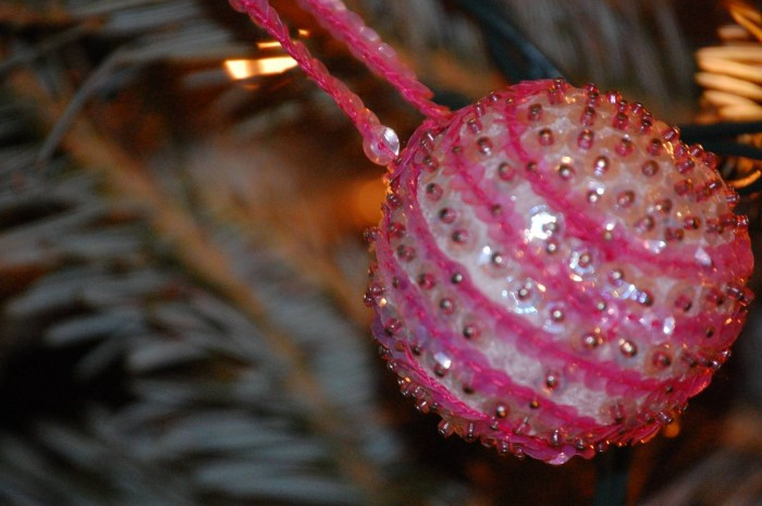 hand-beaded ornament