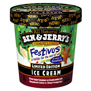 Festivus Ice Cream by Ben and Jerry