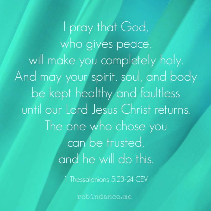 1 Thessalonians 523-23