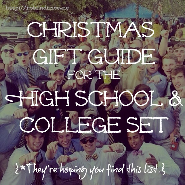 gift guide for high school and college students