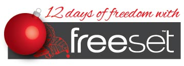 12 Days of Freedom with Freeset logo
