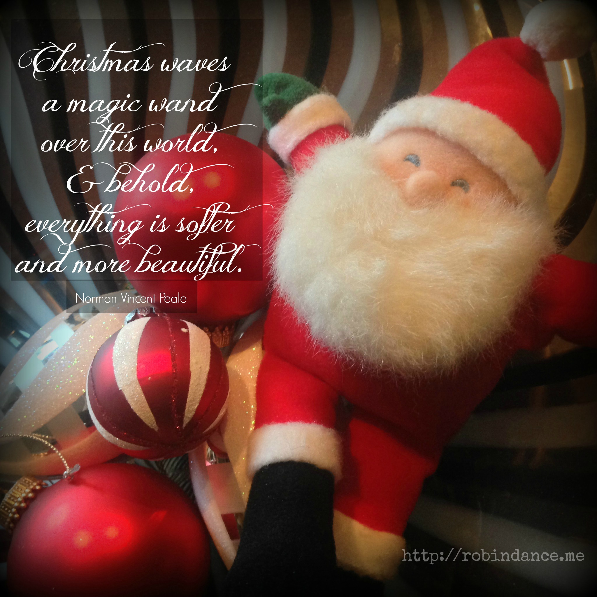 Santa Having A Ball   Norman Vincent Peale Christmas Quote