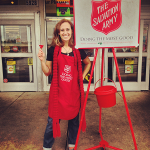 Ringing Salvation Army Bell