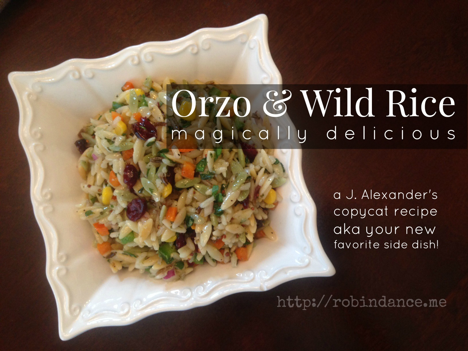 Your Favorite New Side Dish: Orzo and Wild Rice