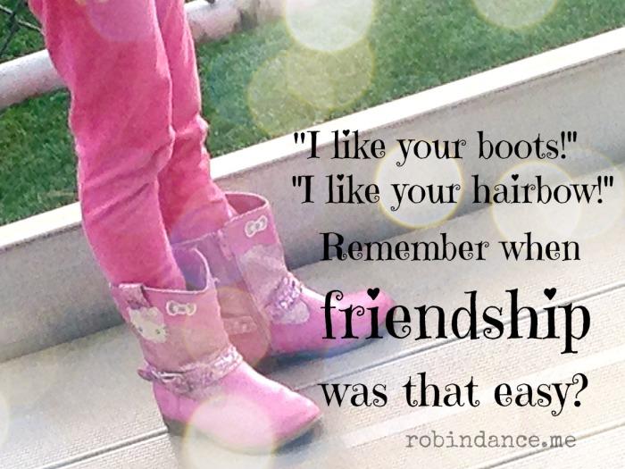 When friendship was easy