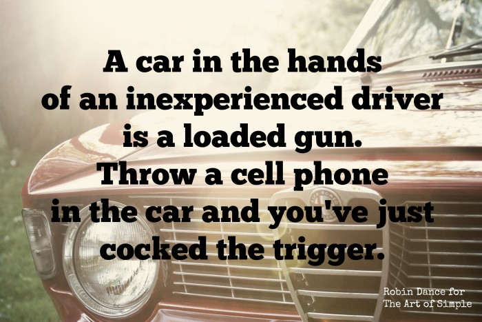 A car is a loaded weapon