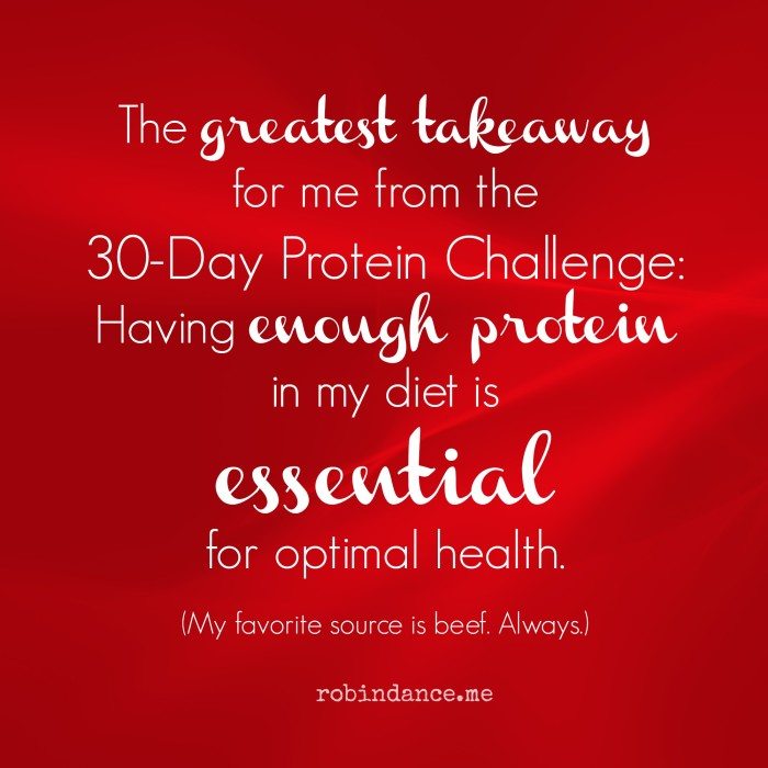 Greatest Takeaway from the 30-Day Protein Challenge
