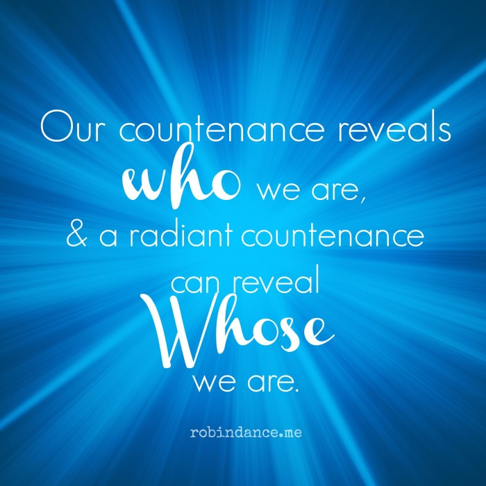 Quote about countenance