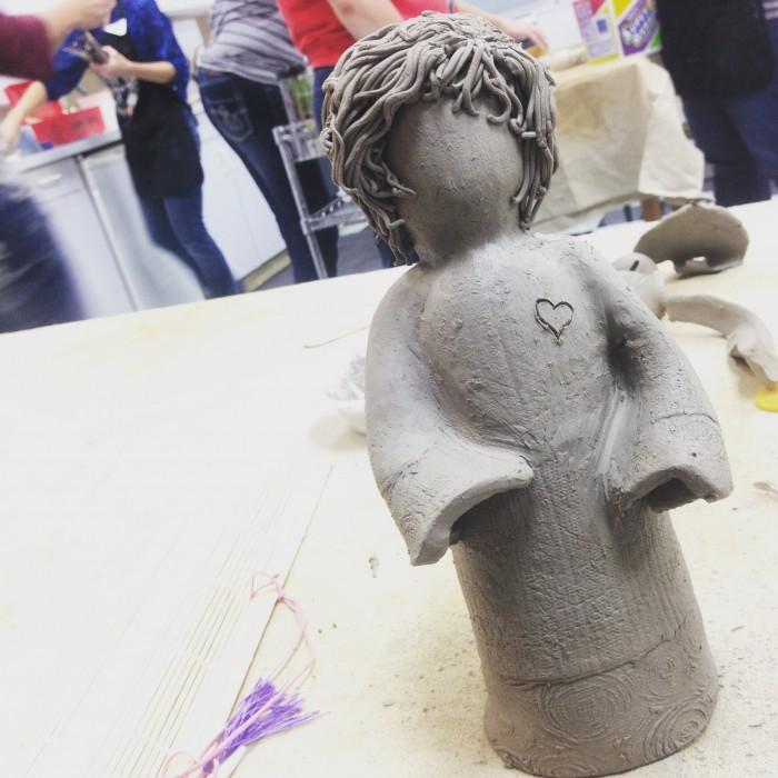 Clay angel