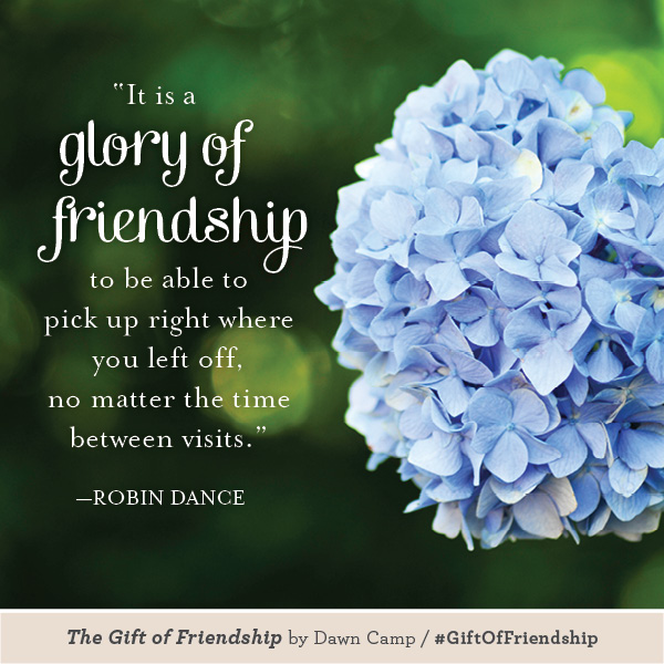 The Gift of Friendship - Quote by Robin Dance