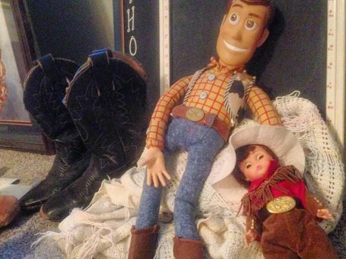 WoodyCowboy BootsBaby Blanket