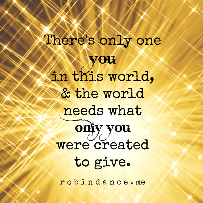 Theres only one you quote - Robin Dance