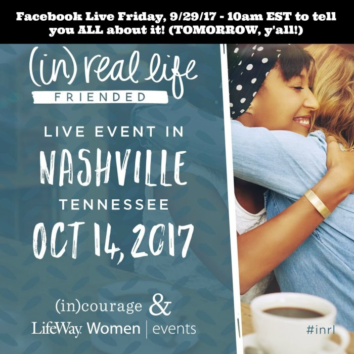 Facebook Live for inRL FRIENDED event