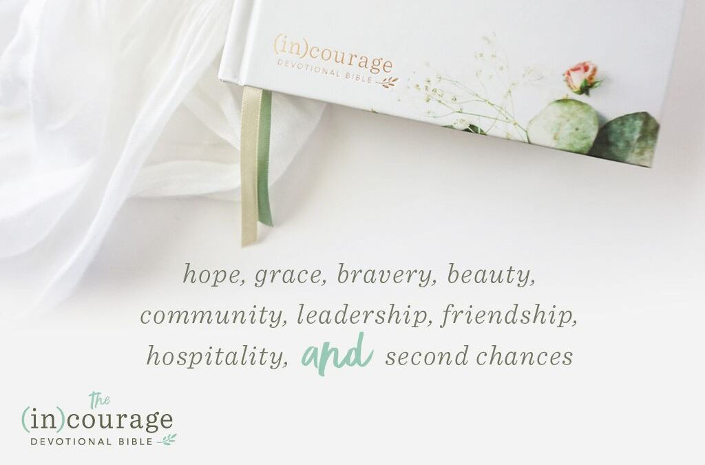 Preorder Your (in)courage Devotional Bible & Receive A Free Leather Journal!