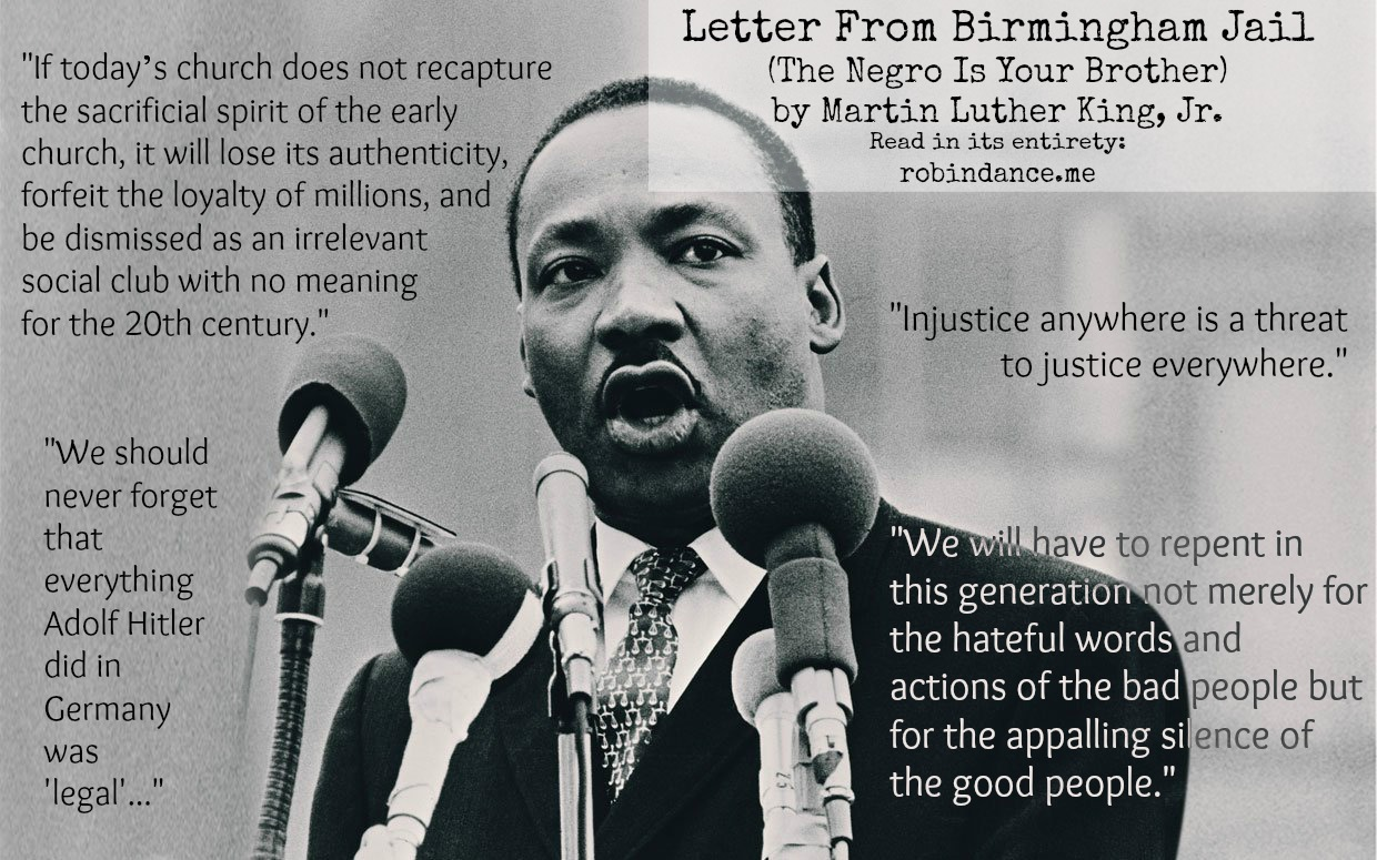 letters from birmingham jail letter from birmingham the negro is your 12276 | MLK Letter from Birmingham Jail quotes